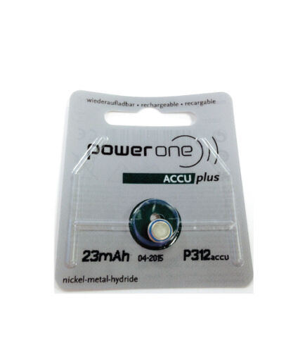Power ONE Rechargeable Hearing AID Battery P312 Accu | eBay