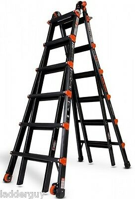 26 1a Little Giant Ladder - Pro Series W Platform Wheels 10126bp