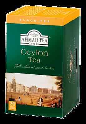 Ahmad Ceylon Black Tea, 6 boxes of 20 ct Tea Bags, NEW for sale  Sun Valley