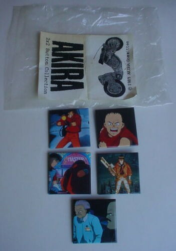 Vintage ORIGINAL 1989 AKIRA Anime Collection Pinback Pin COMPLETE SET Animation
