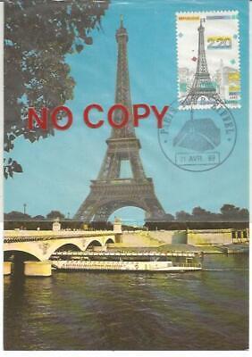 France, Paris, Centenario della Tour Eiffel, 21.4.1989, Cartolina Maximum. comprar usado  Enviando para Brazil