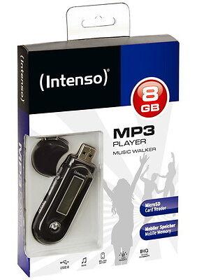 Intenso MP3 Player Music Walker 8GB Display Batteriebetrieb schwarz