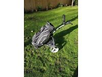 motocaddy s1 electric trolley and motocaddy bag