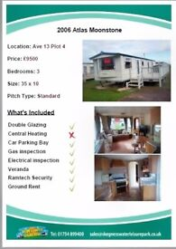 Our Lovely Caravan For Sale At Skegness Water Leisure Park. PRICE REDUCED FOR QUICK SALE.