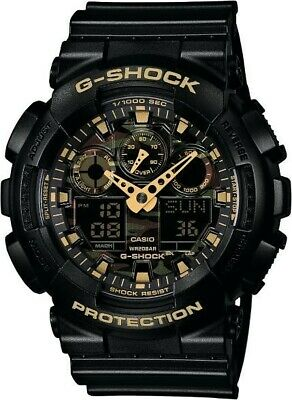 Casio G-Shock Black/Gold/Camouflage Watch GA100CF-1A9 | New with Tags | , usado comprar usado  Enviando para Brazil