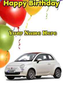 fiat 500 ballons voiture joyeux anniversaire a5 personnalis greeting card pid067 ebay. Black Bedroom Furniture Sets. Home Design Ideas