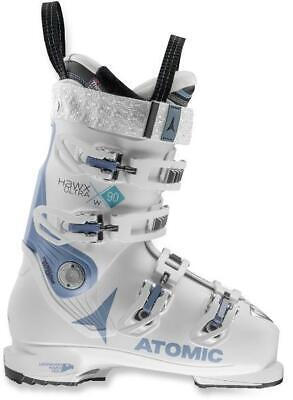 "WOMEN'S ATOMIC ""HAWX ULTRA 90"" SKI BOOTS (WHITE/DENIM BLUE) SIZE: 26/26.5 Atomic Womens Ski Boots"