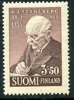 Finland Stamp Scott #246 Dr K.J. Stahlberg 80th Birthday 1945 MNH