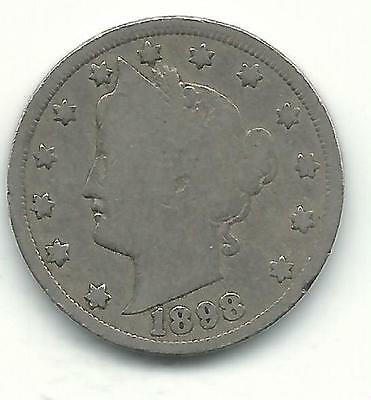 1883-1912 LIBERTY HEAD NICKELS  1898     SKU9039