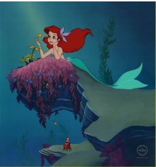 """DISNEY LIMITED EDITION THE LITTLE MERMAID """"HE LOVES ME"""" SERICEL"""