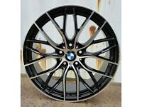 "4 x 20"" BMW M PERFORMANCE ALLOYS WHEELS AND TYRES BRAND NEW F30 SPORT PCD 5x120 320D 325D 330D M3"