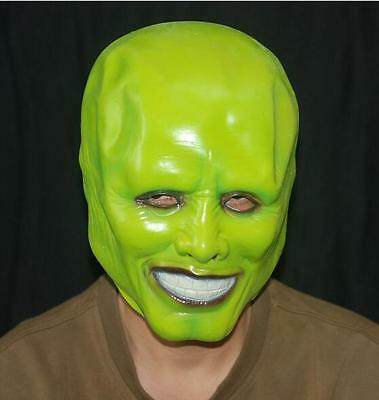 The Mask Jim Carrey Cosplay Green Mask Costume Movie Fancy Dress Halloween Party