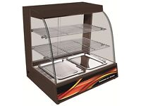 808-S-M Hot Food Warming Electric Display Cabinet Counter Pie Pasty Sausage Rolls 66cm with Water tr