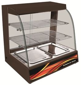Hot Food Warming Electric Display Cabinet Counter Pie Pasty Sausage Rolls 66cm with Water Bowl