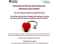 Healthy male volunteers required for dietary fat and heart health study
