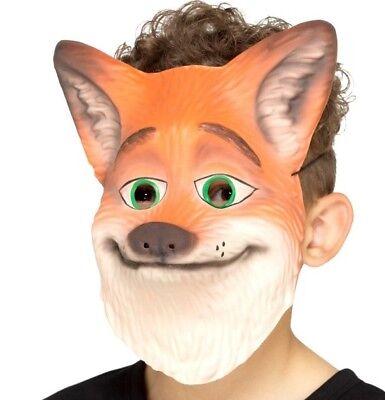 Kinder EVA Fox Maske Kostüm Tier Schaum Maske & elastisch Riemen von Smiffys