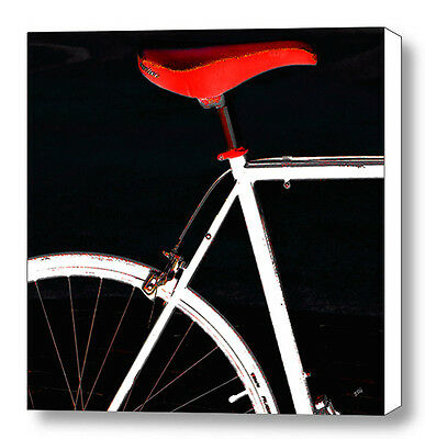 Bike In Black White And Red No 1, Large Abstract Fine Art Canvas Print, Wall