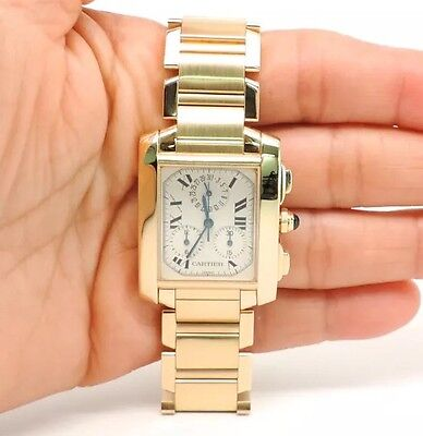Cartier Tank Francaise Chronograph Chronoflex 1830  18kt Gold Watch W50005R2