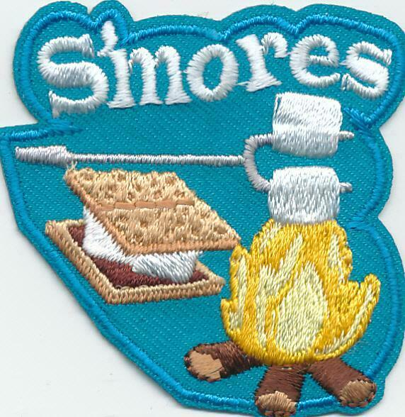 Girl Boy Cub SMORES Blue Campfire Fun Patches Crest Badges SCOUT GUIDE S