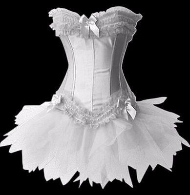 PLUS SIZE Womens Moulin Rouge Burlesque Overbust Corset & Tutu Skirt Fancy - Moulin Rouge Skirt