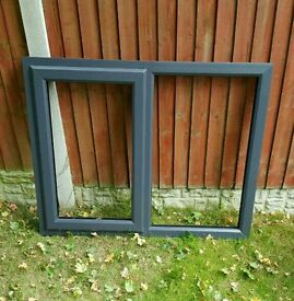 Brand New Grey PVC Window 1300 x 1020mm