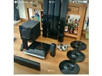 SAMSUNG HT-BD2 7.1 BLURAY HOME THEATER SYSTEM.