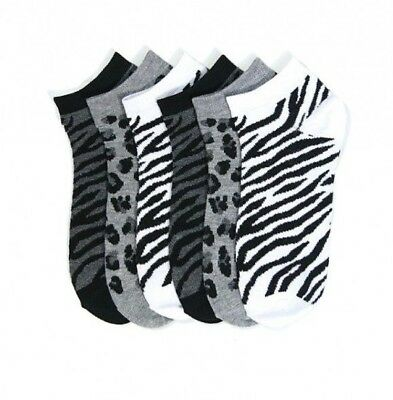 Wild Zebra (Women's Girl's Wild Zebra Low Cut Ankle Crew Sock Size 6-8 9-11 Lots Wholesale)