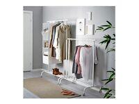 Ikea Rigga white rails clothing rails x2
