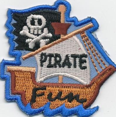 Girl Boy Cub PIRATE FUN Party Ship Fun Patches Crests Badges SCOUT GUIDE costume