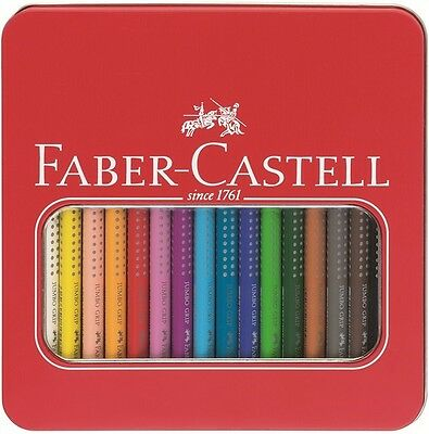 Faber-Castell Coloured Pencil Jumbo Grip Metal Tin of 16 Aquarell Triangular (Faber Castell Jumbo Grip)