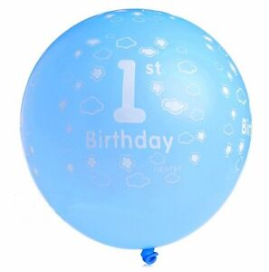 21pcs 1st Birthday Baby Boy latex Balloons with free balloon pump