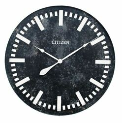 Black & White Large 28 Oversized Round Wall Clock, Modern Industrial,Quartz-NEW