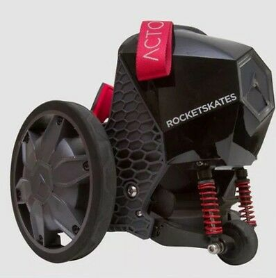Black Electric Roller Skates Fast Speeds Up 12 MPH Bluetooth Rocket Skates