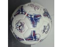 Autographed football - signed by the Bolton Wanderers team from 2001 & BWFC clock & programme