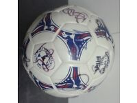 Autographed football - signed by the Bolton Wanderers team from 2001 & BWFC clock