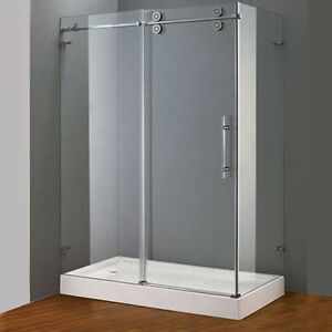 Frameless Tempered Glass Corner Shower