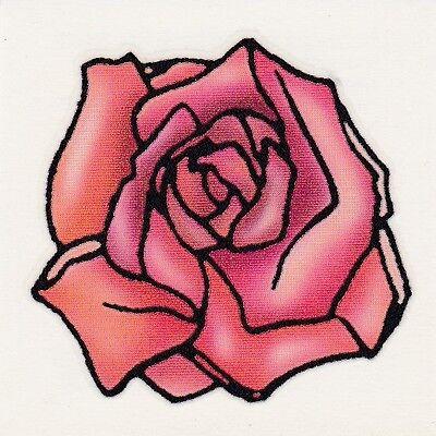 FULL OPENED RED ROSE VALENTINES DAY! Temporary Tattoo - Valentine Tattoo