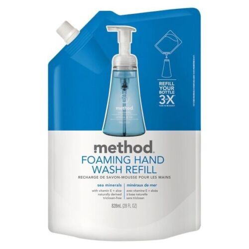 Method Foaming Hand Wash Refill, 28oz Pouch, Sea Minerals