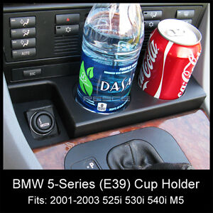 2001-2003 BMW 525i 530i 540i M5 E39 FRONT CUP HOLDER (NEW) ADD-ON DRINK HOLDER