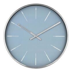 PROJECT 62 Modern Analog Wall Clock | Blue/Brushed Nickel | 10x10x1 | NWT