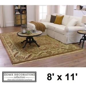 NEW CHANTILLY 8' x 11' AREA RUG 2632620810 142107325 HOME DECORATORS BEIGE RUST CARPET FLOORING FLOORS DECOR ACCENT M...