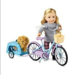 """NEWBERRY BICYCLE WITH TRAILER FOR 18"""" DOLLS BRAND NEW IN BOX"""