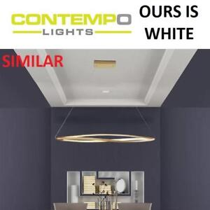 NEW CONTEMPO 3 LIGHT LED PENDANT SHSC91W 196790049 LIGHTING REMOTE KITCHEN WHITE