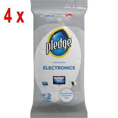 4 x Pledge Hygienische antistatische Reinigungstücher - Elektronik - 50 Tücher