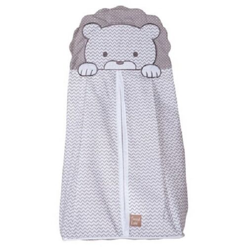 Trend Lab Hanging Zippered Diaper Stacker - Safari Lion Chevron Gray