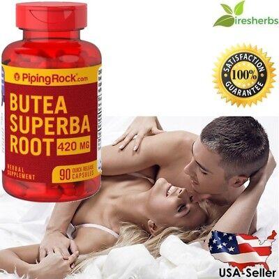 #1 BEST BUTEA SUPERBA ROOT 420Mg MEN SEXUAL HEALTH HERBAL SUPPLEMENT 90 CAPSULES