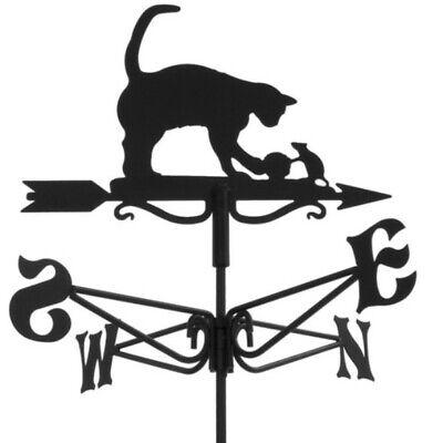 Cat and Mouse Powder Coated Mini Weathervane