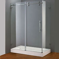 Tempered Glass Corner Shower - Stainless Hardware