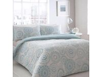 Home Collection Basics Aqua geometric print 'Oslo' bedding set