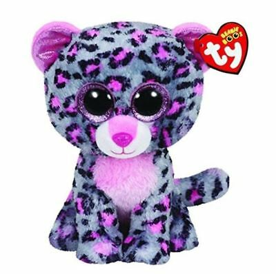 Purple Leopard 6 Ty Beanie Boos Puppy Glitter Eyes Plush Stuffed Animals Toys